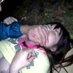 林間学校で美少女が夜の山でドスケベ先生にハメ撮りされる中出し強姦