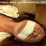 ガムテ拘束された人妻が服ビリビリ引き裂かれ汚される輪姦ガチレイプ