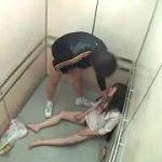 エレベーターで人妻OLに睡眠薬で眠らせ強姦する密室レイプ⇒中出し